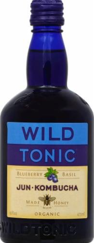 Wild Tonic Blueberry Basil Jun Kombucha Perspective: front