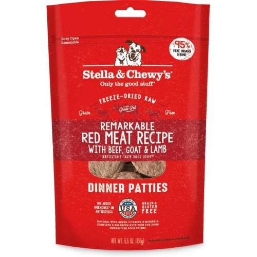 Stella & Chewys 852301008236 14 oz Dog Freeze Dried Dinner Red Meat Treats Perspective: front