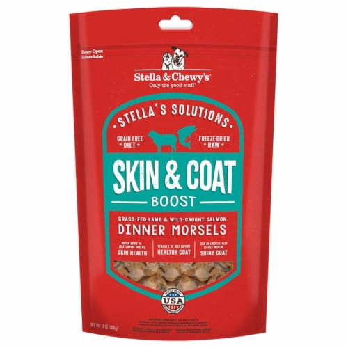 Stella & Chewy 84000865 13 oz Dog Solution Skin & Coat Lamb Salmon Perspective: front