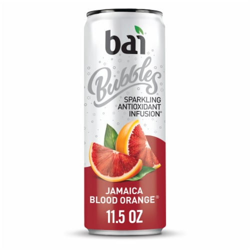 Bai Bubbles Jamaica Blood Orange Sparkling Beverage Perspective: front