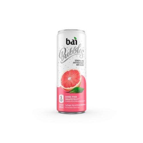 Bai Bubbles Gimbi Pink Grapefruit Sparkling Beverage Perspective: front