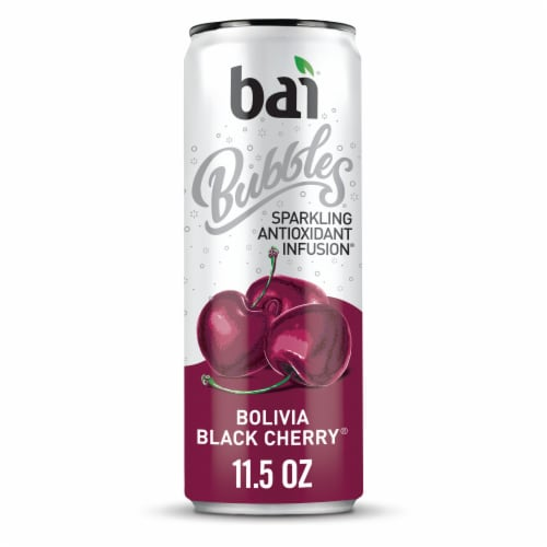 Bai Bubbles Bolivia Black Cherry Sparkling Beverage Perspective: front