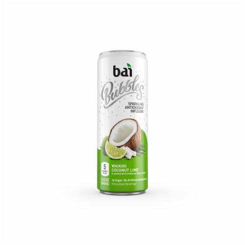 Bai Bubbles Waikiki Coconut Lime Sparkling Beverage Perspective: front