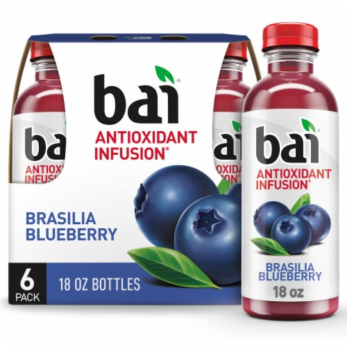 Bai Brasilia Blueberry Antioxidant Infused Beverages Perspective: front