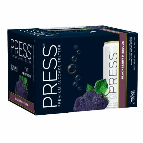 PRESS Blackberry Hibiscus Premium Hard Seltzer Perspective: front