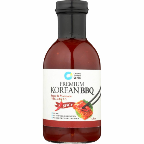 Chung Jung One Premium Spicy Korean BBQ Sauce Perspective: front