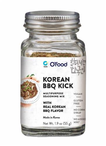 O'Food Korean BBQ Kick Multipurpose Seasoning Mix Perspective: front