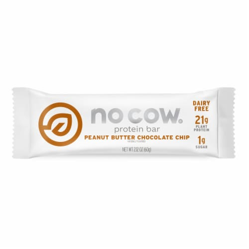 no cow Peanut Butter Chocolate Chip Protein Bar Perspective: front
