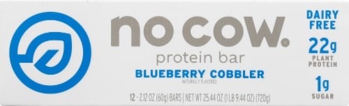 no cow Blueberry Cobbler Protein Bars Perspective: front