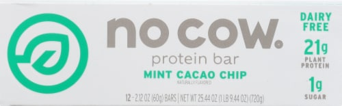 no cow Mint Cacao Chip Protein Bars Perspective: front