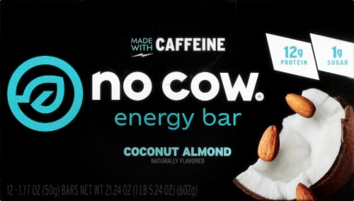 no cow Coconut Almond Energy Bars Perspective: front