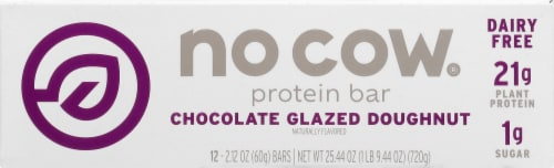 no cow Chocolate Glazed Doughnut Protein Bars Perspective: front
