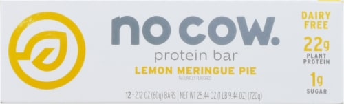 no cow Lemon Meringue Pie Protein Bars Perspective: front