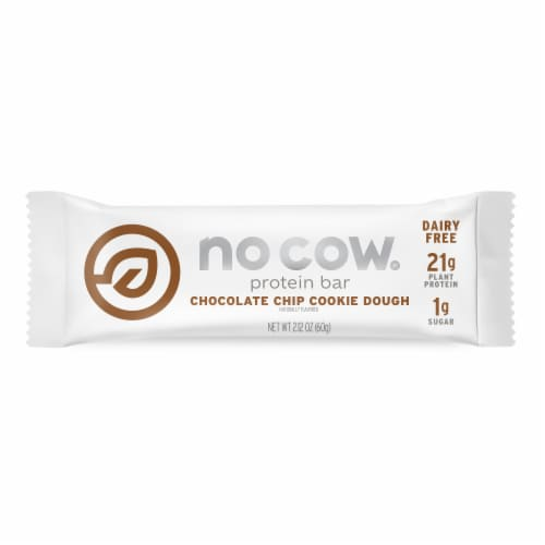 no cow Chocolate Chip Cookie Dough Protein Bar Perspective: front