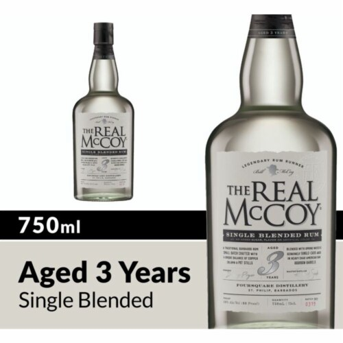 The Real McCoy 3 Year Single Blended Rum Perspective: front