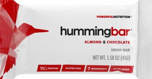 Humming Hemp hummingbar Almond & Chocolate Hemp Bar Perspective: front