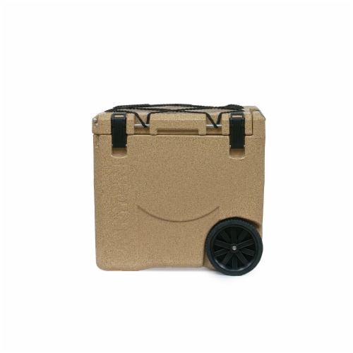 Canyon Coolers Mule 30 Quart 28 Liter Insulated Cooler with Wheels, Sandstone Perspective: front