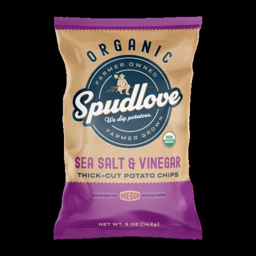 SpudLove Sea Salt & Vinegar Thick-Cut Potato Chips Perspective: front