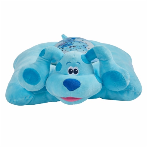 Pillow Pets Nickelodeon Blue's Clues Blue Sleeptime Lite Plush Toy Perspective: front