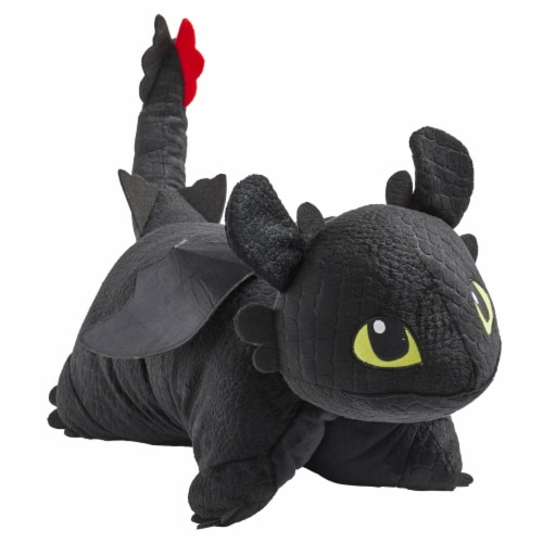 Pillow Pets NBC Universal How to Train Your Dragon Toothless Plush Toy Perspective: front
