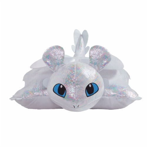Pillow Pets NBC Universal Light Fury Plush Toy Perspective: front