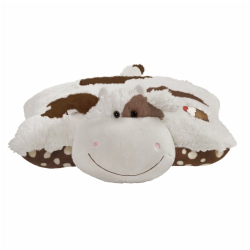 Pillow Pets Sweet Chocolate Milkshake Scented Cow Plush Toy Perspective: front