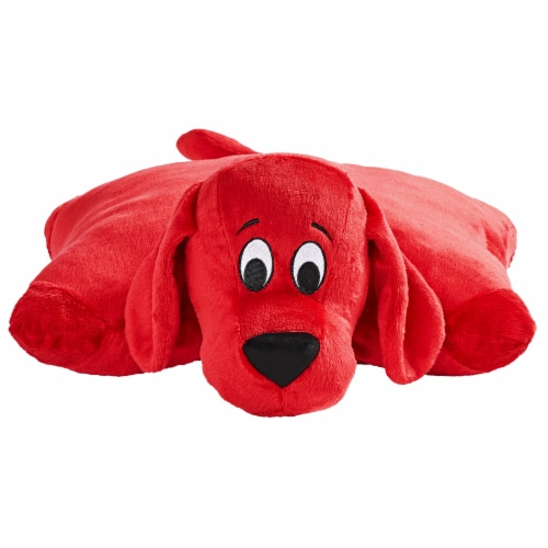Pillow Pets Jumboz Scholastic Clifford The Big Red Dog Plush Toy Perspective: front