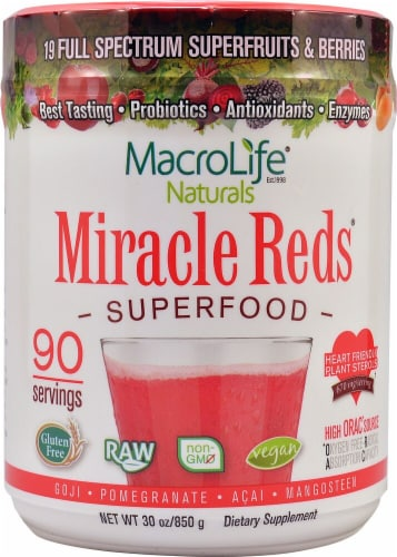 Macro Life Naturals  Miracle Reds Superfood   Berry Perspective: front