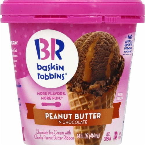 Baskin Robbins Peanut Butter 'N Chocolate Ice Cream Perspective: front