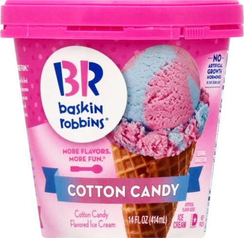 Baskin Robbins Cotton Candy Ice Cream Perspective: front