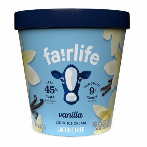 Fairlife Vanilla Light Ice Cream Perspective: front
