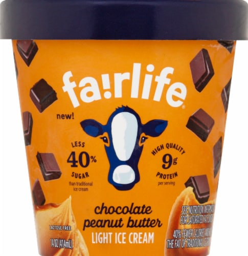 Fairlife Chocolate Peanut Butter Light Ice Cream Perspective: front