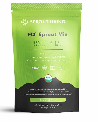 Sprout Living Organic Broccoli & Kale FD Sprout Mix Perspective: front