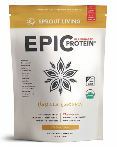 Sprout Living Epic Vanilla Lucuma Plant-Based Protein® Perspective: front