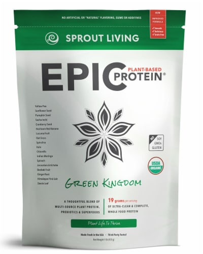 Sprout Living Green Kingdom Epic Plant-Based Protein® Perspective: front