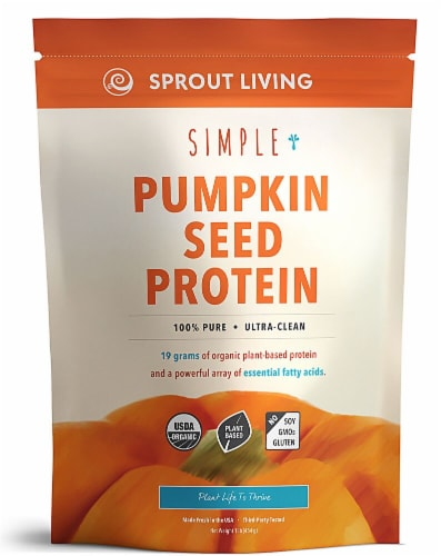 Sprout Living  Simple Organic Pumpkin Seed Protein Powder   Original Perspective: front
