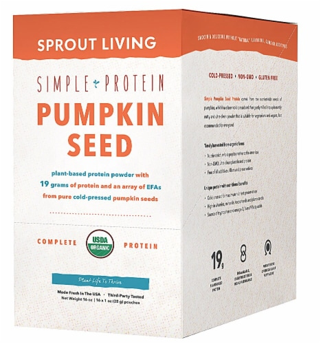 Sprout Living Organic Simple Protein Pumpkin Seed Plant Protein Powder Perspective: front