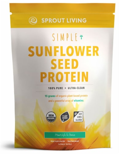 Sprout Living Simple Sunflower Seed Protein Perspective: front