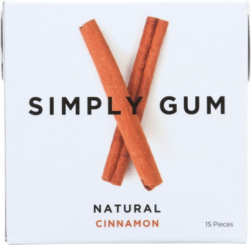 Simply Gum Natural Cinnamon Perspective: front