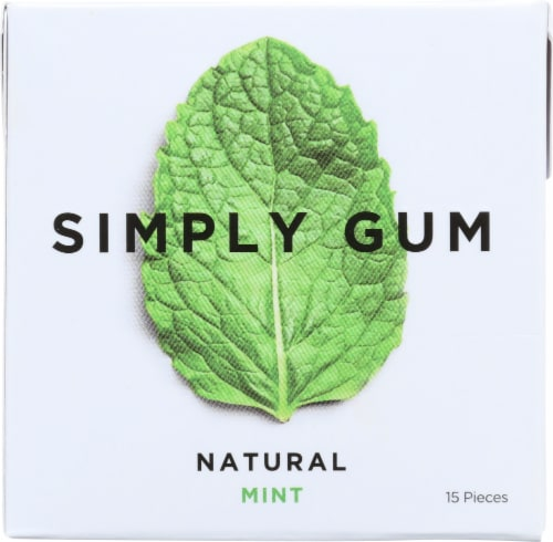 Simply Gum Natural Mint Perspective: front