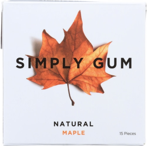 Simply Gum Natural Maple Gum Perspective: front