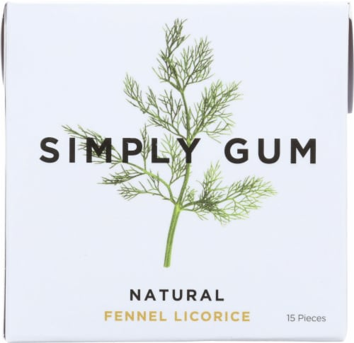 Simply Gum Natural Fennel Licorice Chewing Gum Perspective: front