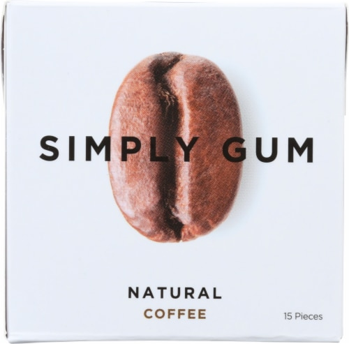 Simply Gum Natural Coffee Gum Perspective: front
