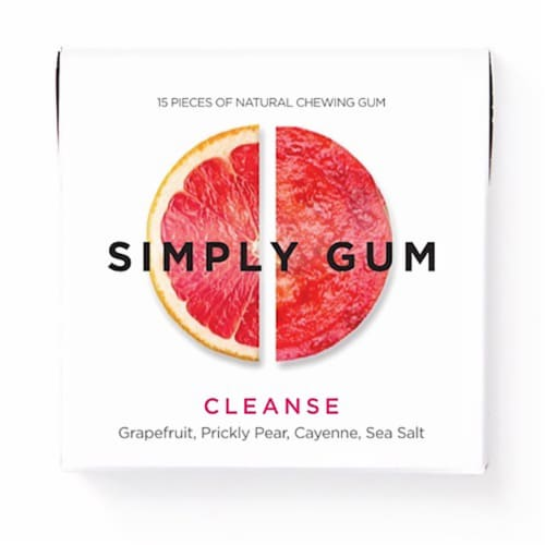 Simply Gum Cleanse Natural Chewing Gum Perspective: front