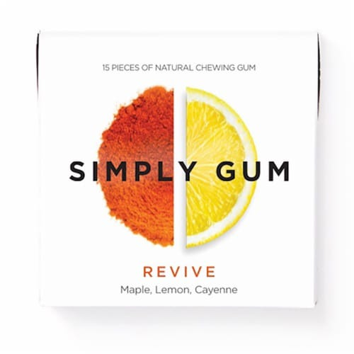 Simply Gum Revive Natural Chewing Gum Perspective: front