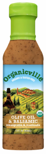 Organicville Olive Oil and Balsamic Vinaigrette & Marinade Perspective: front