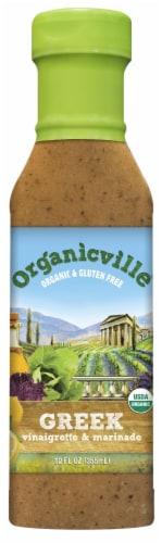 Organicville Organic Greek Vinaigrette & Marinade Perspective: front