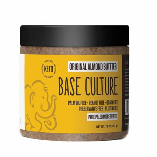 Base Culture Original Almond Butter Perspective: front