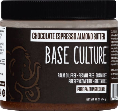 Base Culture Chocolate Espresso Almond Butter Perspective: front