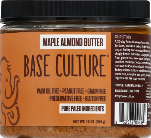 Base Culture Maple Almond Butter Perspective: front